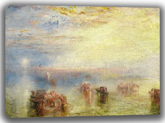 Turner, Joseph Mallord William: Approach to Venice. Fine Art Canvas. Sizes: A4/A3/A2/A1 (003545)